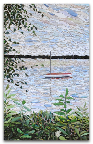 sailboat mosaic